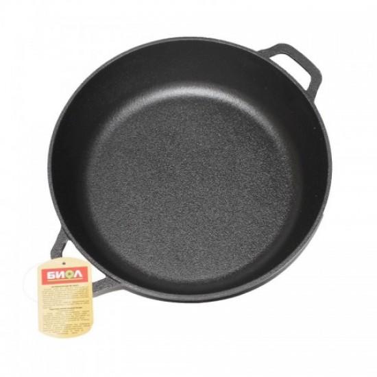 Deep cast iron frying pan 26cm 03261