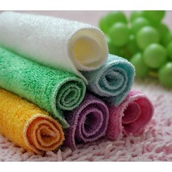 Double Layers Mix Color Magic Bamboo Microfiber Kitchen Washing Dish Cleaning Cloth 23х18см