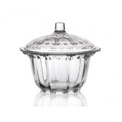 Glass sugar bowl Rosalia