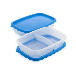 Food containers 1,2 L, 2pcs, colored mix orange, red, yellow, blue