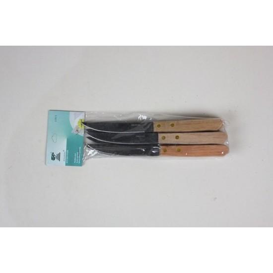 6PCS WOOD HANDEL KNIFE