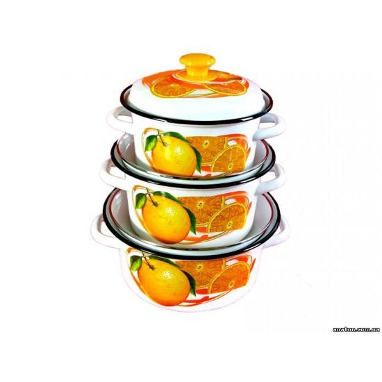 Pot set 2l, 3l, 4l Apelsinovij sok-1