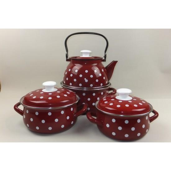 Pot set 1.5l, 2l, 3l + 3l teapot Monika