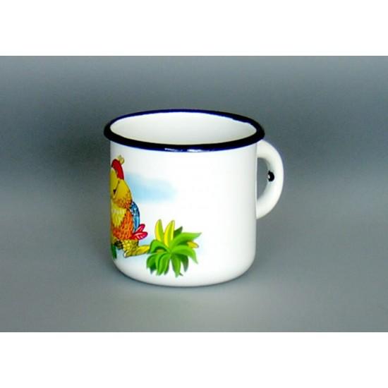 Enamel mug 0.4l decor