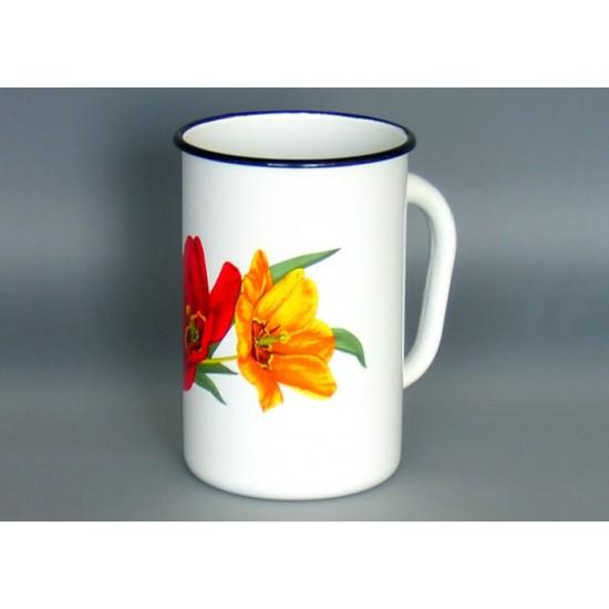 Enamel mug 1.5l decor
