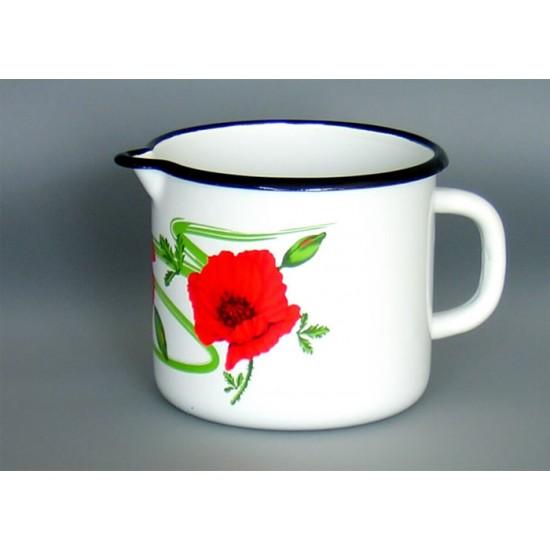 Enamel mug without lid 1l