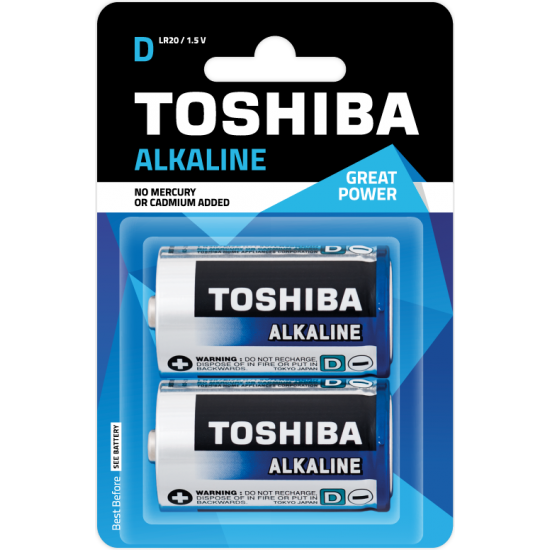 Alkaline D Battery 2pcs