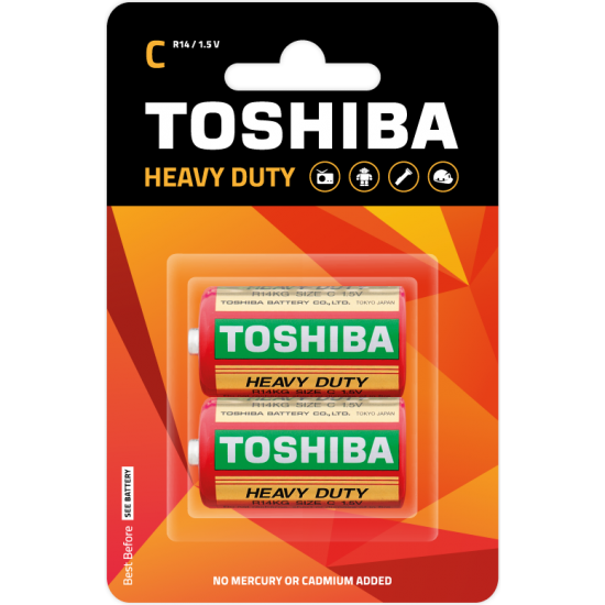 Heavy Duty C Battery / 2 pcs